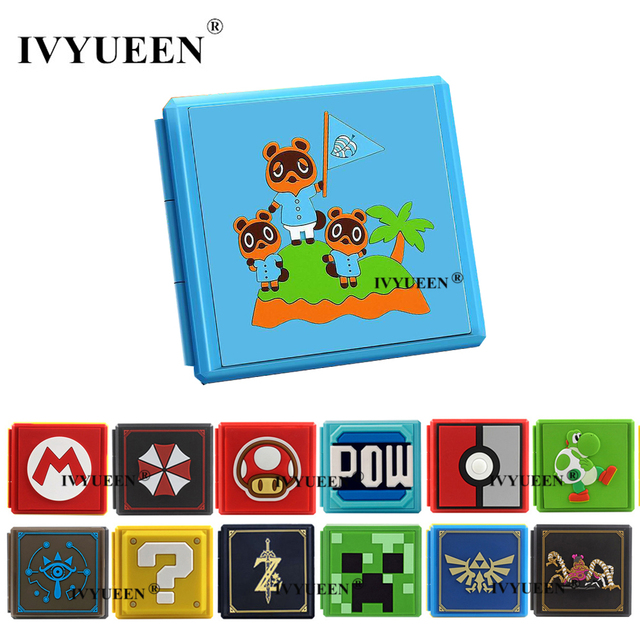 IVYUEEN 17 Colors for NintendoSwitch Lite NS Premium Game Cards Storage Case Protective Cover Hard Shell Box Gaming Accessories
