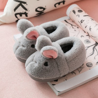 Autumn and Winter Children's Cotton Slippers Cute Cartoon Bunny Boys and Girls Cotton Slippers Home Cotton Shoes Christmas