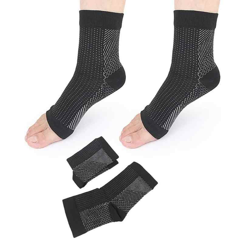 2 stücke Unsichtbar Sport Socken Männer Frauen Nylon Knöchel Ferse Unterstützung Atmungs Absorption Kompression Fuß Schutz Ärmeln