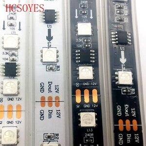 Image 4 - WS2811 30/60 diod led/m 5050 SMD taśmy RGB AddressableLed piksele zewnętrzny 1 ic sterowanie 3 diody led 5m/rolka 16.5ft DC12V