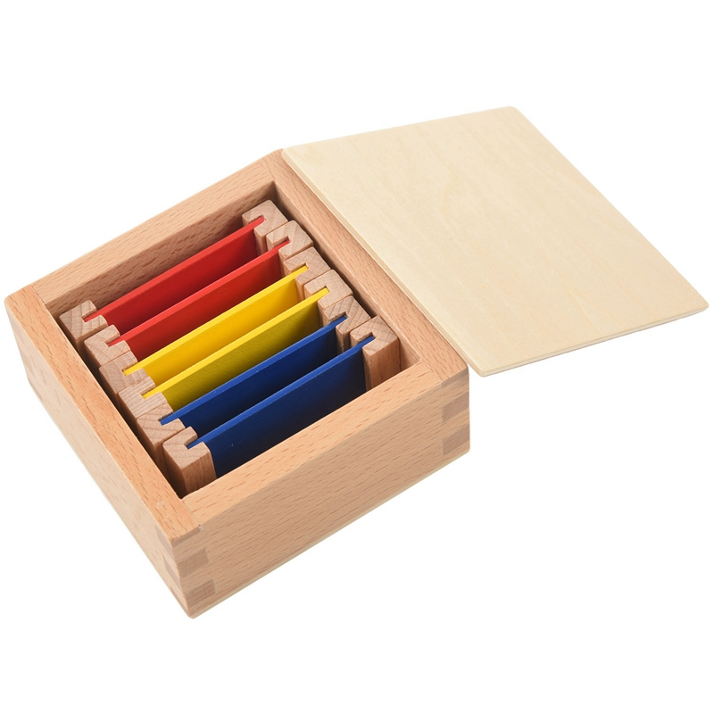 Sensorial Material Learning Color Tablet Box Wood Preschool Training Kids Puzzle Educational Toys For Children S