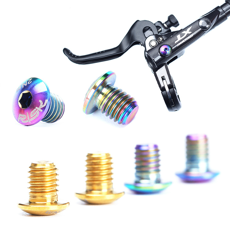 TC4 Bicycle <font><b>Brake</b></font> Cylinder Screw Titanium Bike Hydraulic <font><b>Brake</b></font> Cylinder Bolts for <font><b>SHIMANO</b></font> DEORE M8000/<font><b>SLX</b></font> <font><b>M7000</b></font> Shimmano <font><b>Brakes</b></font> image