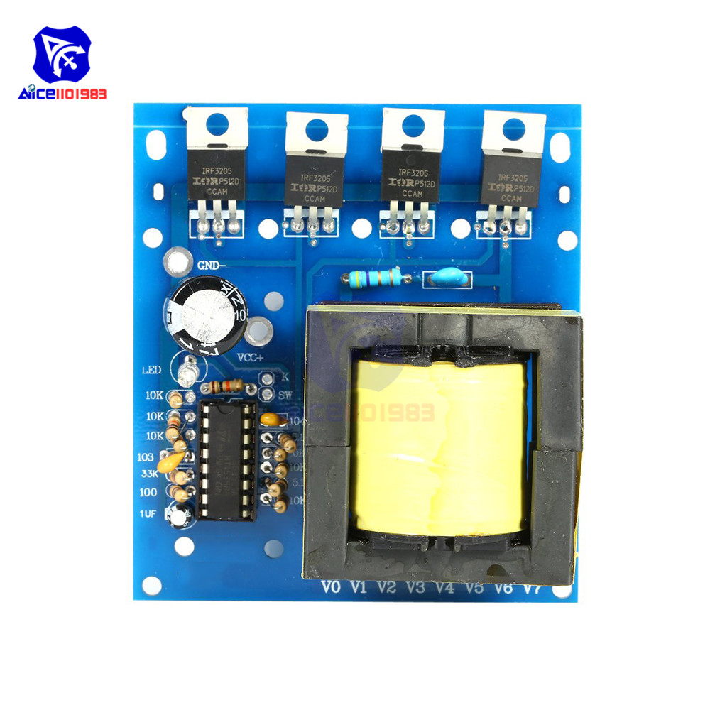 DC 12V zu AC 220 V/380 V 500W Inverter Boost Board Step Up Modul Transformator Auto spannung Sender Power Supply Converter