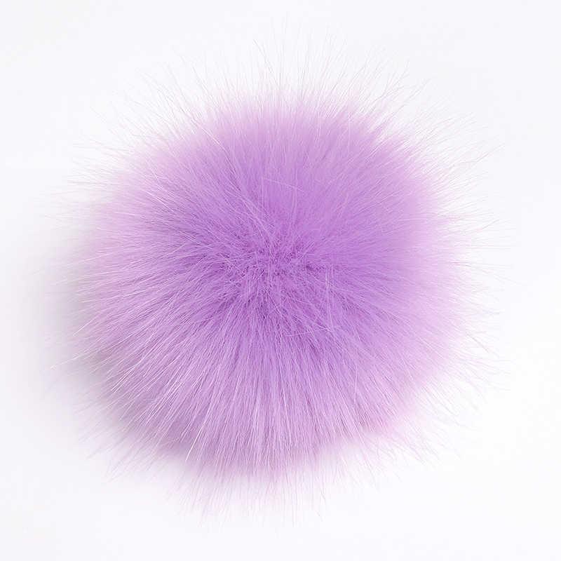 Big Size 10-15 Cm Diy Faux Fur Pompom Wasbeer Bont Pom Poms Ballen Natuurlijke Bont Pompon Voor Hoeden tas Schoenen Accessoires Craft Supplies