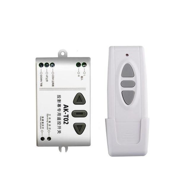 Ac 220 v 433mhz ذكي الرقمية جهاز ريموت كنترول لا سلكي يعمل بالتردد الراديوي التبديل نظام لإسقاط شاشة/باب المرآب/الستائر