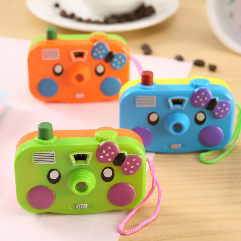 1pcs New Animal Projection Mini Camera Toy With Light Cartoon LED Flashing Educational Toy Kid Children Birthday Gift Baby Toy