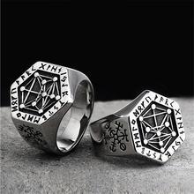 Скандинавские мифологические кольца из нержавеющей стали для