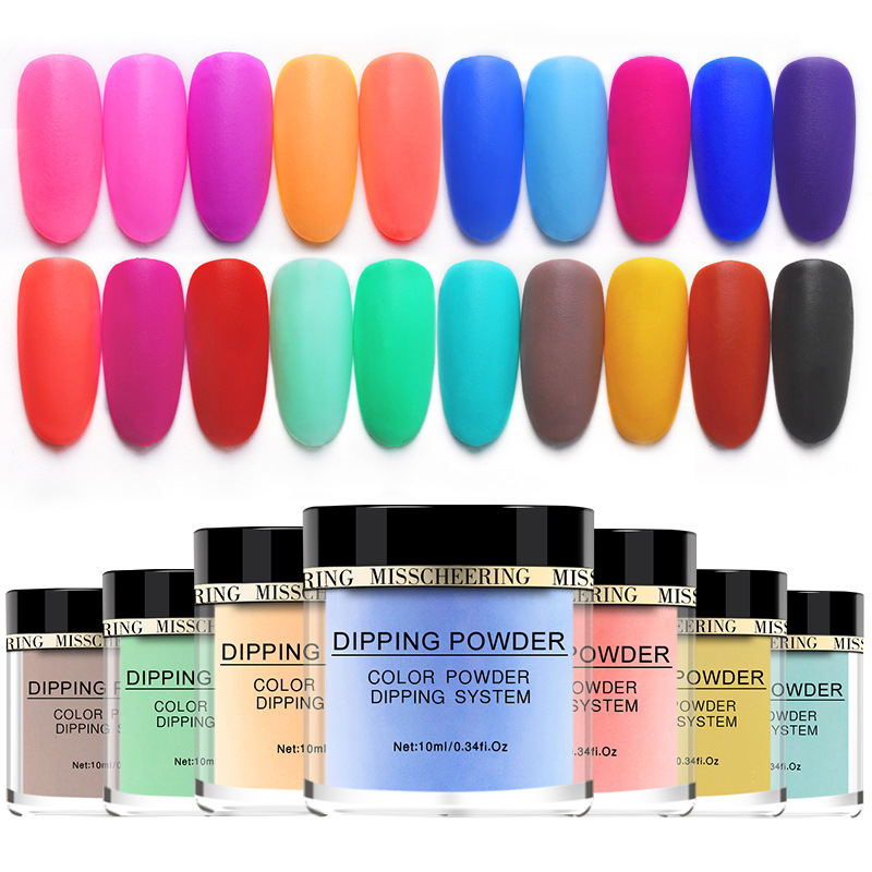 10ml Pigmented New Arrival Dipping Powder Nail Art Acrylic French Dip Powder System Kit Top Base Coat Activator Pink Red Blue