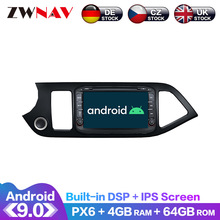 Android 9.0 IPS Screen PX6 DSP For KIA morning picanto 2011 2012 - 2015 Car DVD Player GPS Multimedia Player Radio Audio Stereo