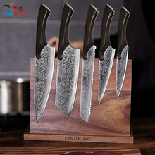 FINDKING Pro Cheetah series 5 PCS damascus knives set Wooden Big Handle knifes Set 67 layers Chef kitchen Knife professional(China)