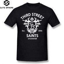 Saints Row T-shirt Saints Row 3 Eerbetoon Embleem T-shirt Fashion 5x Tee Shirt Mens Awesome Korte Mouwen 100 Procent katoenen T-shirt