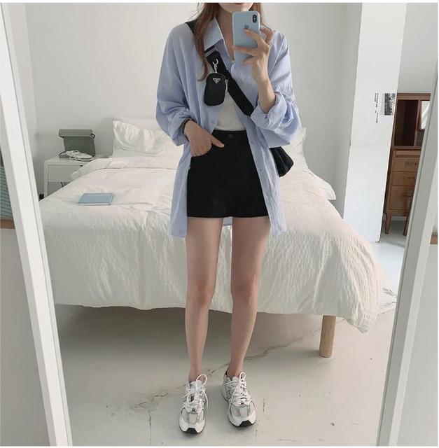 New Vintage Oversize Spring Femme Shirt Casual White Tops Girls Blouse Women Long Sleeve Cotton Plus Size Women Blouses Femme 4