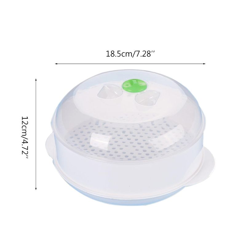 Single Layer Plastic Steamer Microwave Oven Steamer Round Y1QB