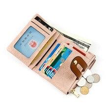Small Luxury Wallet Women Minimalist Folding Unique Card PU Wallet Women Zipper Coin Monederos Para Mujer Purses DE60NQB