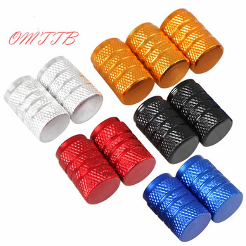 4 PCS Aluminum Auto Bicycle Car Tire Valve Caps Tyre Wheel Ventile Air Stems Cover rims universal Accessories car styling image