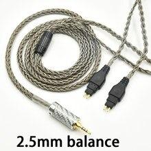 Balanced 2.5mm 4.4 6.5 xlr stereo16 Core 7N OCC Earphone Cable For Sennheiser HD580 HD600 HD650 HD25 HD660S hd565 hd545 upgrade