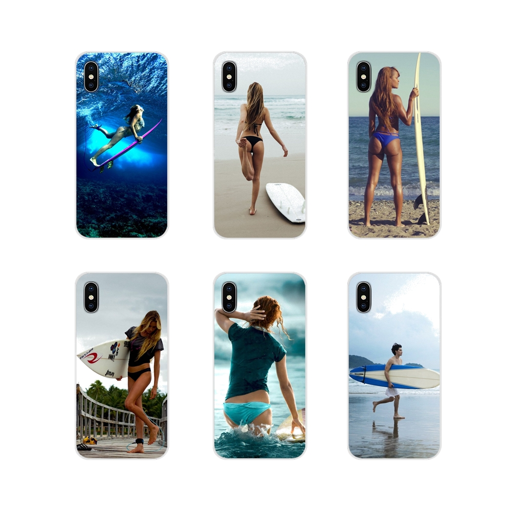 Beaches Surfing <font><b>sexy</b></font> <font><b>Girls</b></font> For Samsung <font><b>Galaxy</b></font> J1 J2 J3 J4 <font><b>J5</b></font> J6 J7 J8 Plus 2018 Prime 2015 <font><b>2016</b></font> 2017 TPU Transparent Shell <font><b>Cases</b></font> image