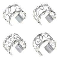Legenstar bijoux acier inoxydable Bague femme Bijoux Homme Argent Bague réglable Interchangeable cuir Bague Pour Femme Argent