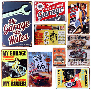 20*30cm Poster Home Decor Motorcycle Wall Decals Art Metal Tin Signs Plate Painting Bar Club Pub Decoration Wall Plaque A132