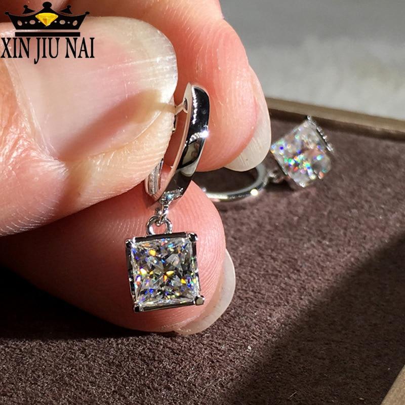 2019 Hot Zircon Earrings Korean Jewelry High-end Silver Set With Crystal Swarovsky For Women Drop Earrings Jewelry Earrings
