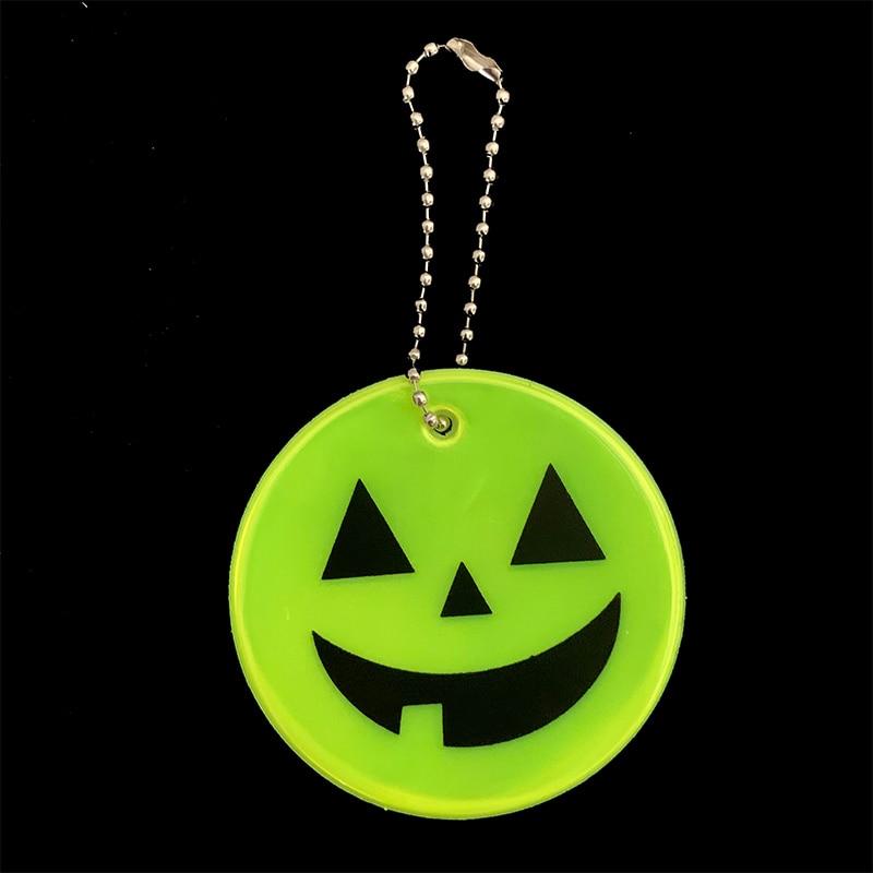 Хэллоуин Тыква брелки мягкий ПВХ отражающий брелок подвесные аксессуары для сумок брелки для дорожного движения видимая Безопасность использования - Название цвета: yellow