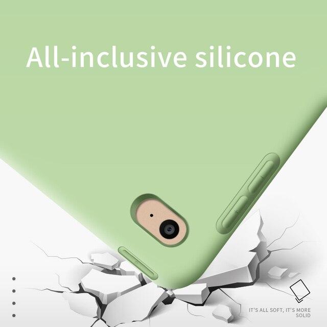Para iPad Air 2 Air 1 Funda 2018 9,7 silicona suave trasera 10,5 Funda inteligente de cuero Pu para iPad mini 1 2 3 4 5 generación