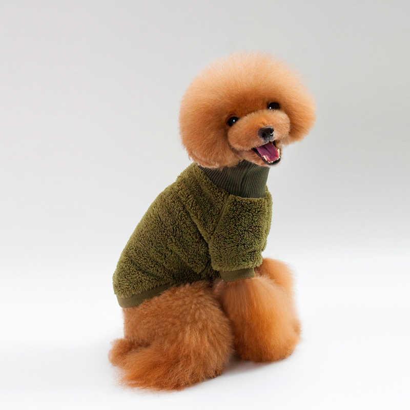 BDTHOOO ubrania dla psów 100% bawełna nowe ubrania dla zwierząt modele jesienne i zimowe golf w jednolitym kolorze sweter dwunożny teddy dog