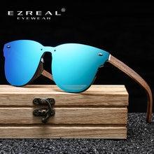 Ezreal женские зеркальные линзы деревянные солнцезащитные очки