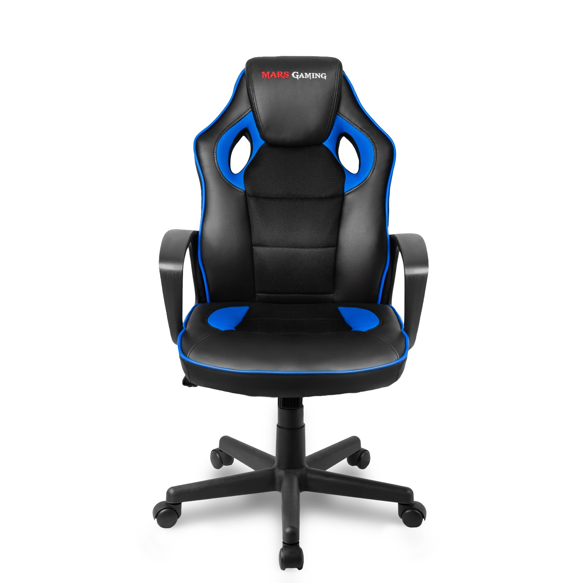 Mars Gaming MGC0BBL, Gaming Chair, Tilt 15 Grees, Rest Arm Fixed, Blue