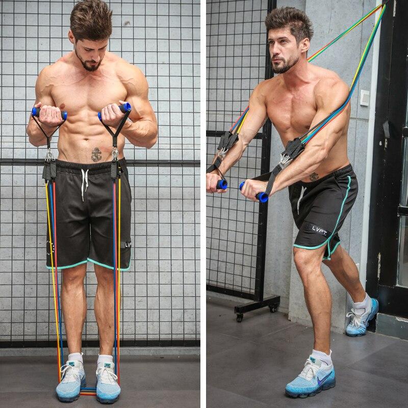 Эластичная резиновая лента для фитнеса и спортзала, 11 шт.-5