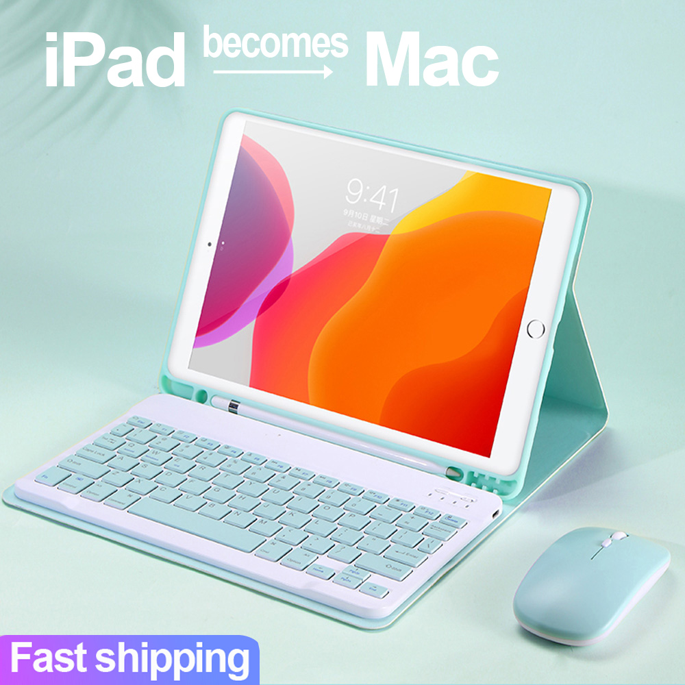 For IPad Pro 11 9.7 10.5 Air 1 2 3 5th 6th 7th Generation Bluetooth Mouse Keyboard Case For IPad 9.7 2017 2018 2019 10.2 Cover