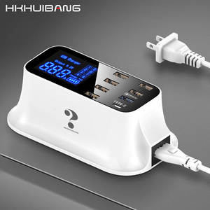 Image 1 - HKHUIBANG Quick Charge 3.0 USB Charger 8 Ports For Samsung Xiaomi Adapter Led Display PD 3.0 40W Phone Tablet Fast Charger