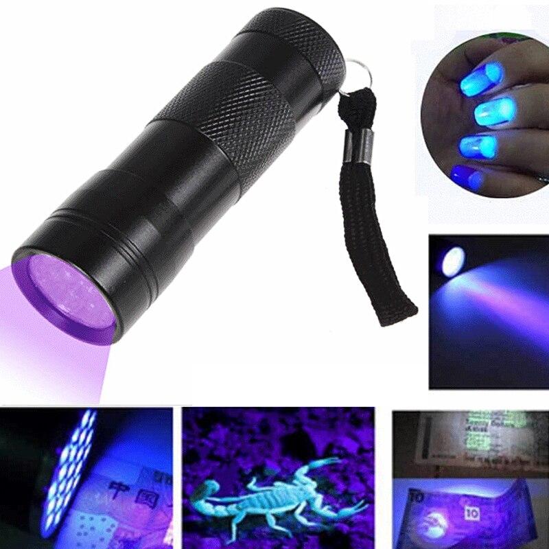 12 LED Mini UV Ultra Violet Flashlight Blacklight Light Inspection Lamp Electric Torch