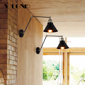 Image 3 - ヴィンテージ壁ランプ産業調節可能な led ウォール燭台壁寝室のカントリーレトロ照明