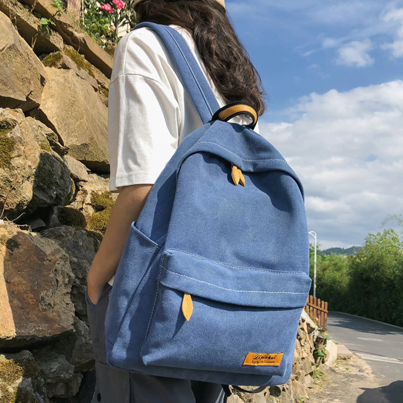 Fashion Canvas Women School Bag Backpacks Korean Vintage Shoulder Bags Female Schoolbag For Teenagers Girls And Boys Travel Bags