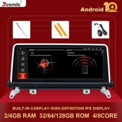 Автомобильный радиоприемник, мультимедийный плеер IPS Android 10,0, 8 ядер, 4G, 128G для BMW X5 E70 X6 E71 2007-2013 Оригинальный CCC или CIC GPS Carplay Wifi