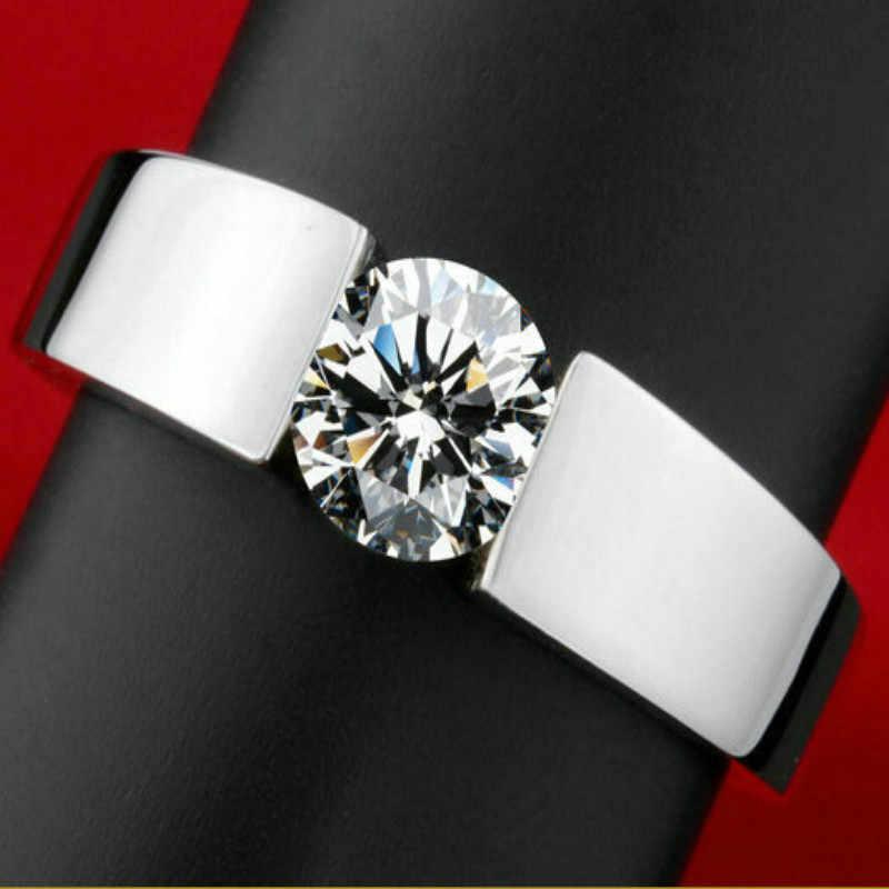 Kemstone Trendy ทองแดง Rose Gold/Sliver สี Zircon แหวนขนาด 4 ถึง 13 ผู้หญิงของขวัญเครื่องประดับ