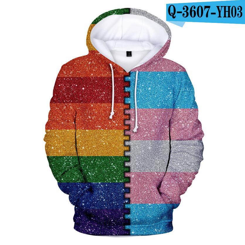 Colorful Rainbow LGBT Hoodies Sweatshirt Men Women For Lesbian Gay Pride LGBT Hoodie Fashion Casual Pullover Hooded Sweatshirts 8