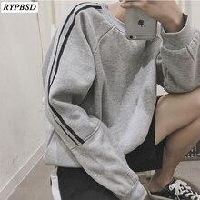 New 2019 Korean Fashion Striped Men Sweatshirt Hip Hop streetwear Long Sleeve Round Neck Loose Harajuku Pullover M-XL