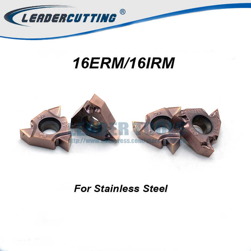 10PCS 16 IRM 1.0ISO LF6018 threading carbide insert milling cutter,cutting inserts,for processing stainless steel cast iron steel