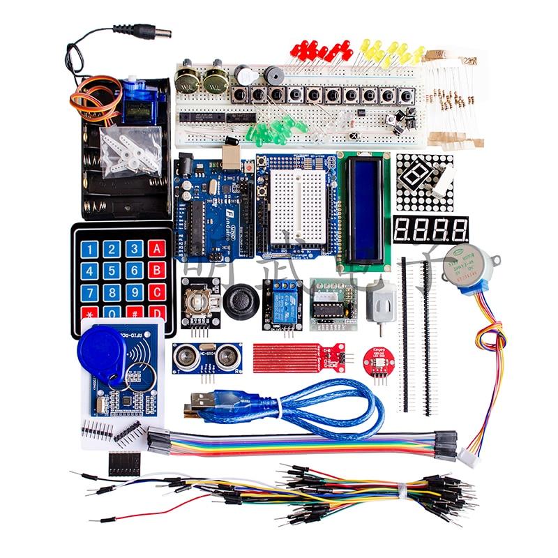 1PCS/LOT RFID Upgrade Kit UNO R3 Development Board Includes Membrane Key Kit UNO Development Board Learning Kit