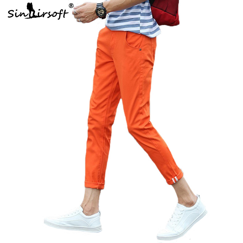 2019 Men Fashion Cotton Slim Pencil Mens Khaki Man Casual Pants Long Haren Trousers Male Solid Pantalon Homme Pantalones Hombre