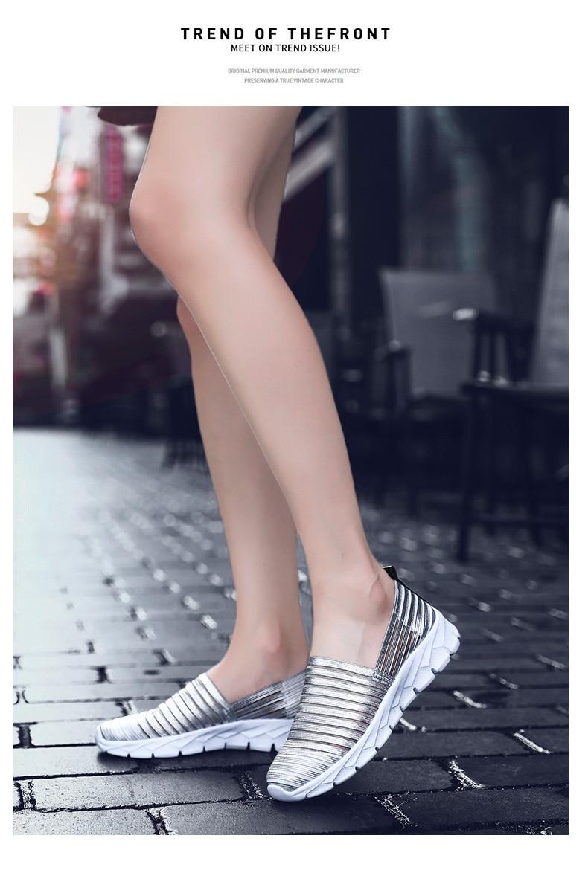 Women Flats Shoes Woman Loafers Slip-ons Platform Ballet Sneakers (21)