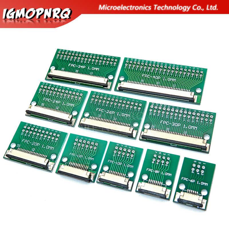 La placa de transferencia de cable plano FPC/FFC se inserta directamente DIY 1mm conector de espaciado 6 P/8 P /10 P/20 P/30 P/40 P/60 P