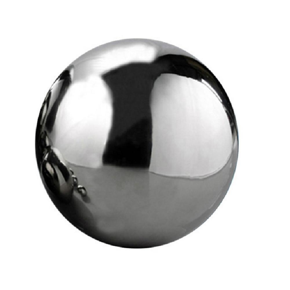 25-120 мм нержавеющая сталь титановый золотой серебряный полый шар бесшовное украшение для дома и сада зеркальный шар сферические вечерние украшения - Цвет: Sliver 100mm