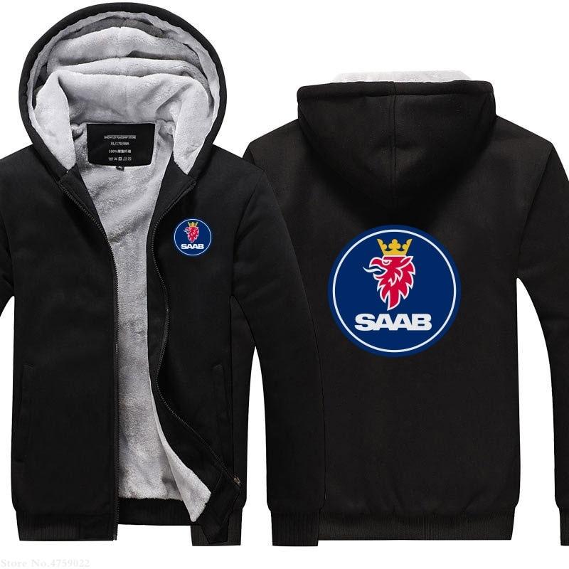 Newest SCANIA print Thicken Hoodie Zipper Jacket Sweatshirts Winter Warm Coat
