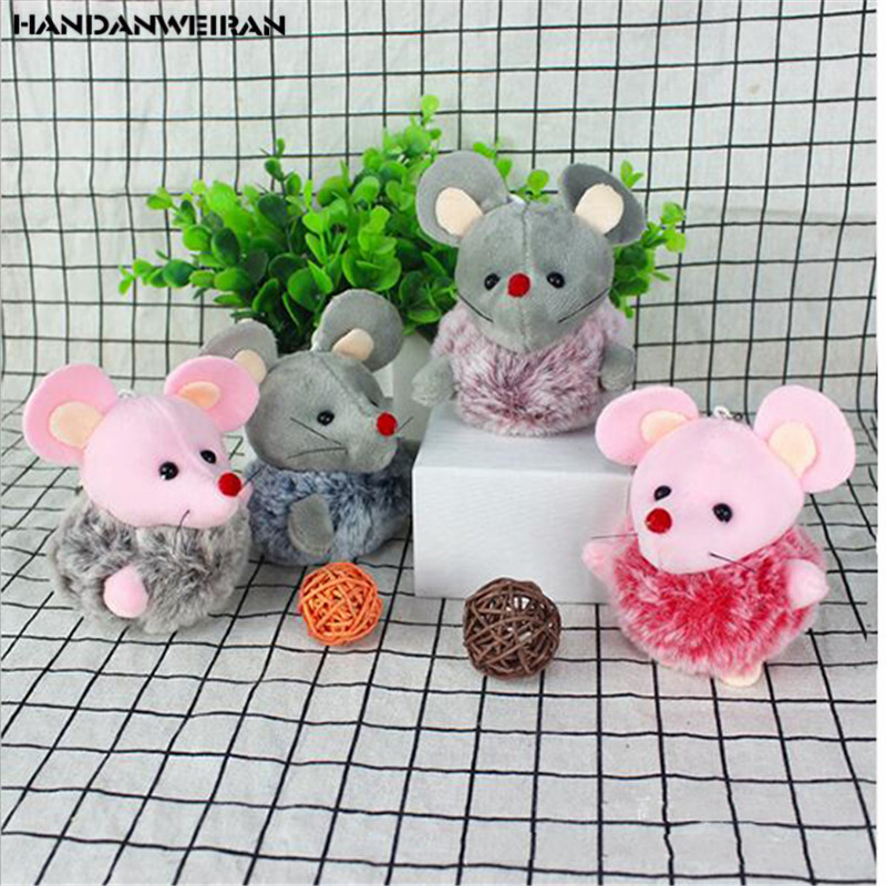 1PCS New Mini Cute 2020 Year Of The Rat Mascot Furry Mouse Pendant Toy Holiday Gift For Girls&Boys&Childs HANDANWEIRAN
