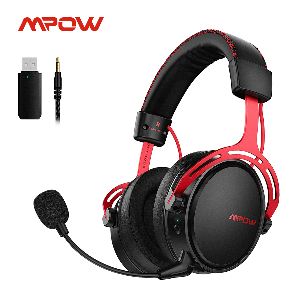 Беспроводная игровая гарнитура Mpow Air 2,4G для PS5/PS4/ПК компьютерные наушники с шумоподавлением микрофон USB передатчик для ПК геймера