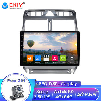 EKIY DSP 4G 64G Android Autoradio For PEUGEOT 307 sw 307 2002 - 2013 Car Radio Multimedia Player GPS Navigation Stereo BT DVD HU image