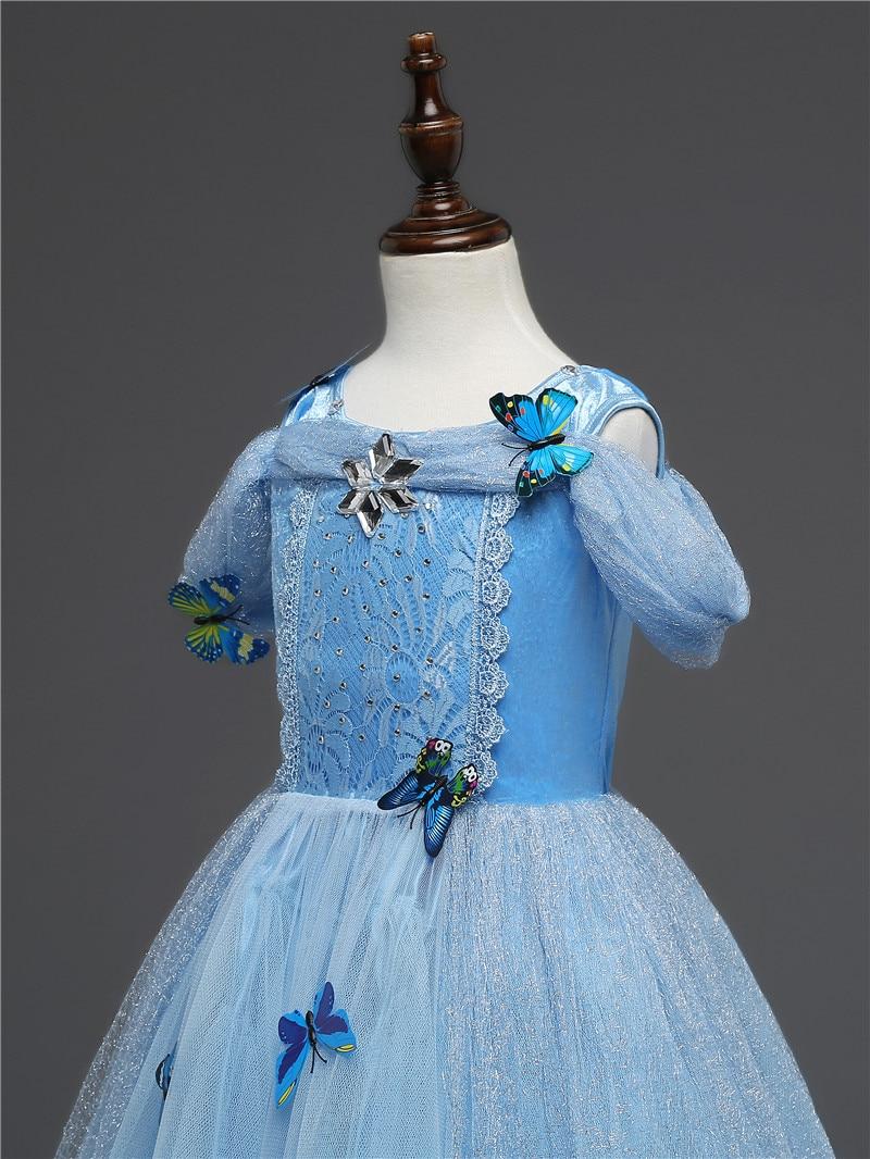 Girls Princess Dress Christmas Halloween Party Costumes Children Birthday Vestidos Robe Kids Disfraz Clothes